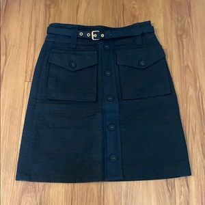 Marc by Marc Jacobs Blk Utility Belted Mini Skirt